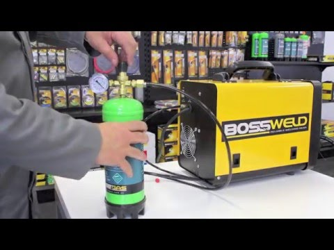 Setting up your light duty MIG for Gas welding with solid wire