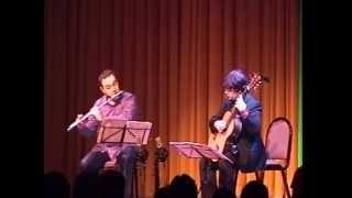 M. C. TEDESCO Sonatina, Op.205 for flute and guitar (II.Andantino grazioso e malinconico)
