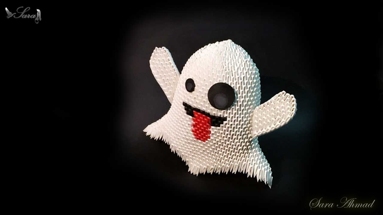 How to make 3d origami ghost part 1 halloween youtube jeuxipadfo Choice Image