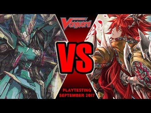 Blau Vs Scharhrot Darkness - Cardfight Vanguard Playtesting September 2017