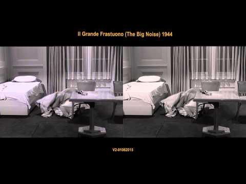 Random Movie Pick - Il Grande Frastuono (The Big Noise) 1944 - comparison YouTube Trailer