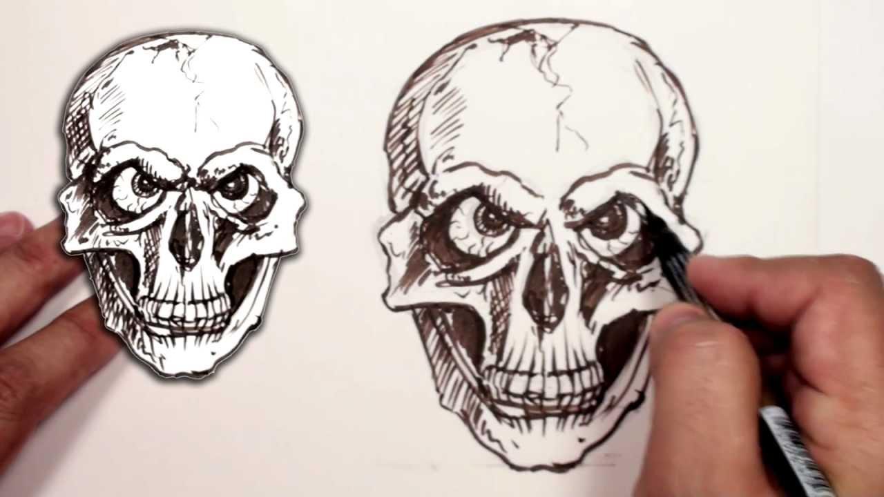 Evil Skull Drawing | www.pixshark.com - Images Galleries ...