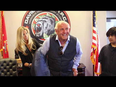 Ric Flair Makes His Grand Entrance in Lubbock, Texas