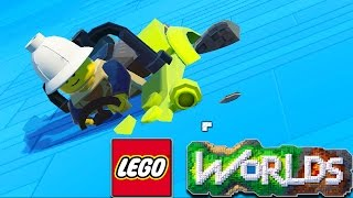 LEGO Worlds - Under Water Base Build! Dragon Exploring & More LEGO Building (LEGO Worlds Gameplay)