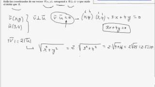 Calcular un vector ortogonal a otro y que mida el doble
