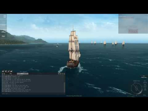 Naval Action] British Fleet vs Pirates Victory front Port Antonio (PvP) | Oct 4, 2016