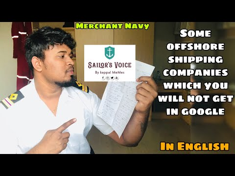 List of offshore companies in India - Which u will not get in google | Merchant Navy | Sailor