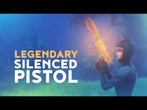 NEW LEGENDARY SILENCED PISTOL (Fortnite Battle Royale)