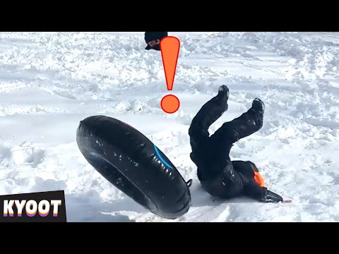 Face Full of Snow! 🤣 | Baby Cute Funny Moments | Kyoot