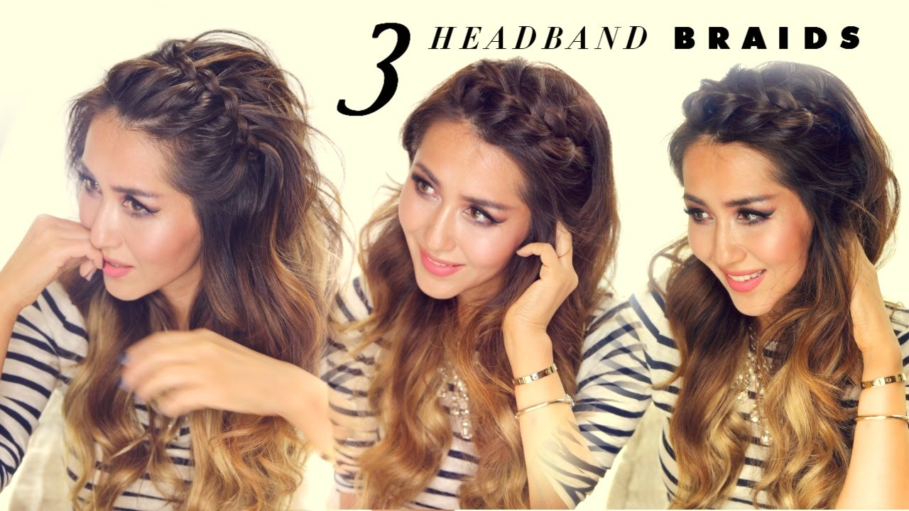 Cute Hair Styles For Medium Hair: 3 Easy-Peasy HEADBAND BRAIDS