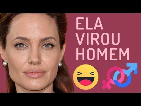 Mudança de Gênero - #3 Angelina Jolie (Photoshop)