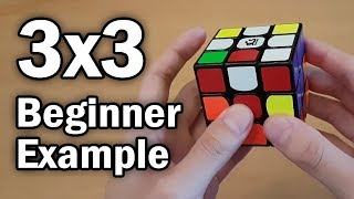 Beginner Method Rubik's Cube Example Solve