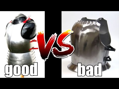 Good Armour VS Bad Armour - How To Tell Them Apart: Medieval, Roman.