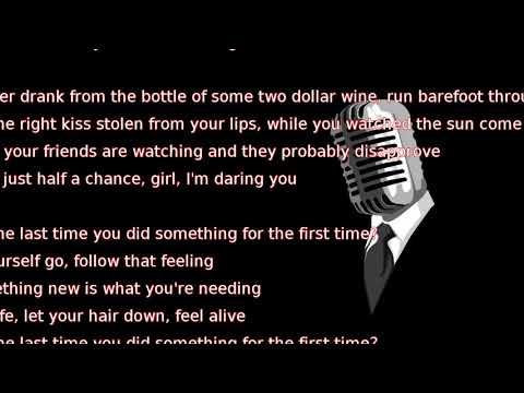 Darius Rucker - For The First Time (lyrics)