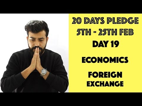 Day 19 - Foreign Exchange - Part 1 - CommerceBaba - Macro Economics Class XII CBSE