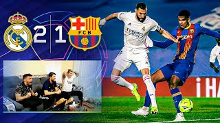 REAL MADRID 2-1 BARCELONA **REACCIONANDO CON GRITOS EN HD**
