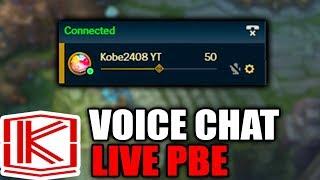 VOICE CHAT LIVE - PATCH 8.5 - League of Legends
