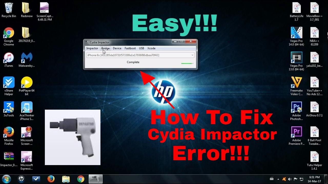 How To Fix Cydia Impactor Errors 71, 80, 81