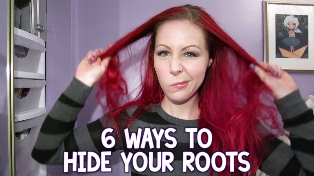 How can I hide regrown roots without resorting to full hair coloring I want them to get some rest from the paint)) 79
