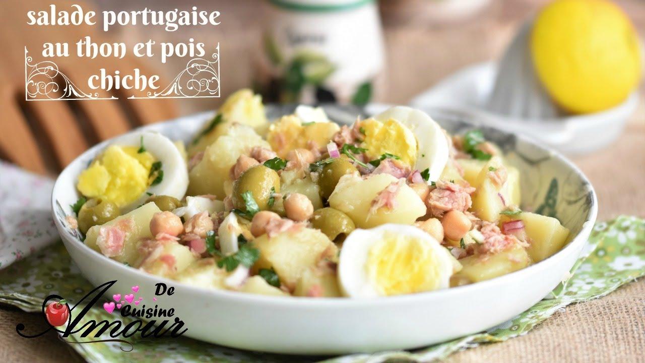 Salade Portugaise A La Pomme De Terre Thon Et Pois Chiche Salade