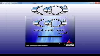 How To Install Cool Edit Pro (Crack+Serial)