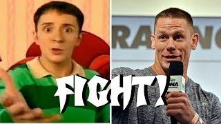 Steve Challenges John Cena for Blue's Clues Hosting Job