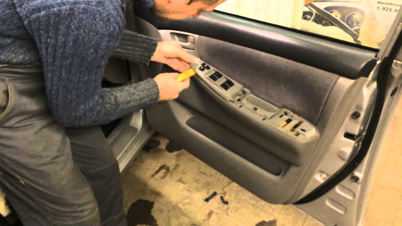устройство водительской двери toyota