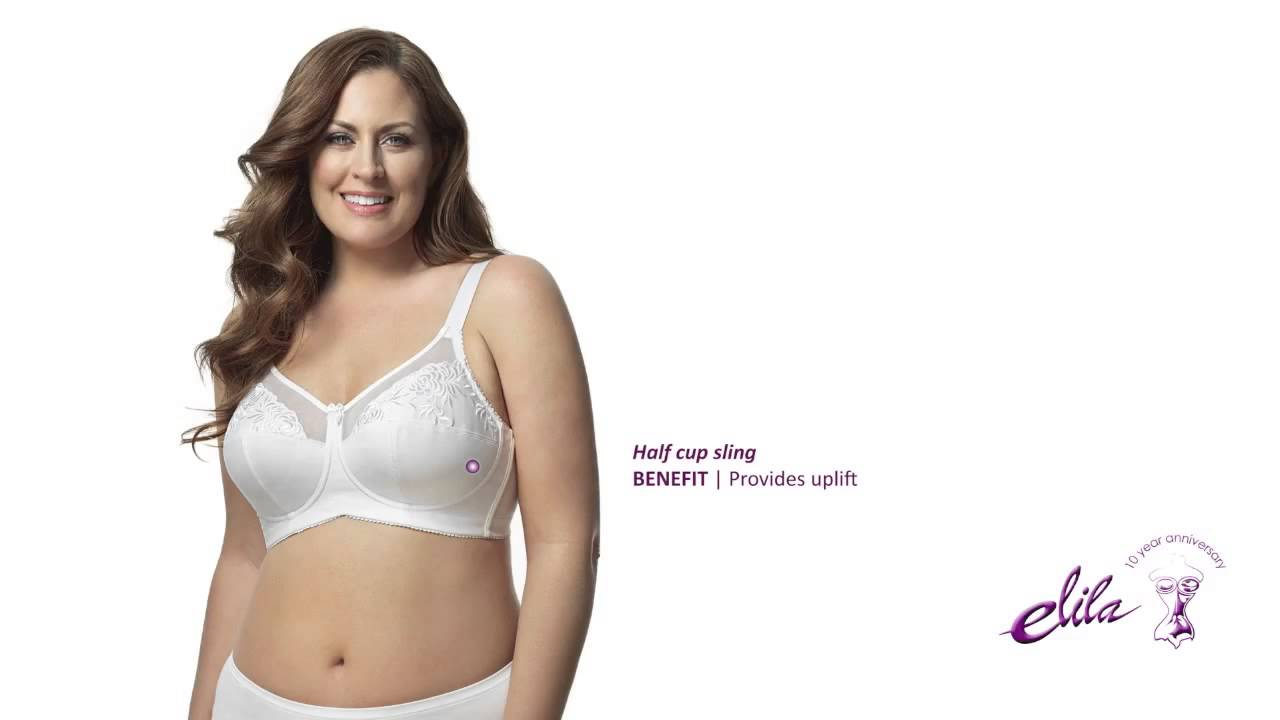84085663cb9 Elila Embroidered Microfiber Softcup Bra - Style 1301 - YouTube