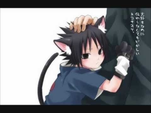 Sasuke Wearing Cat Ears! - YouTube  Sasuke As A Cat