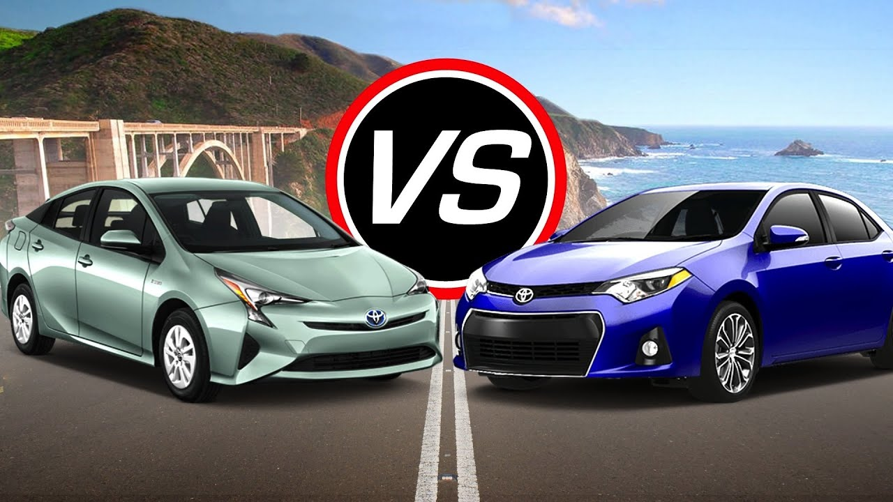 2016 Toyota Prius Vs Corolla Eco Spec Comparison