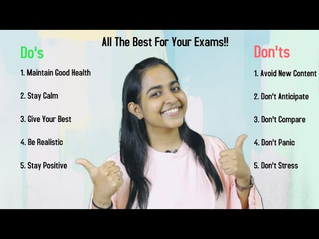 5 Do's and Don'ts for Your Exams By CA Arpita Tulsyan!!