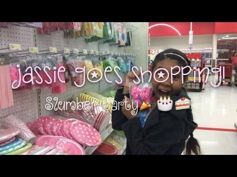 *** SHOPPING FOR A SLUMBER PARTY/BIRTHDAY ** JASSIE 🍰🎉🎂