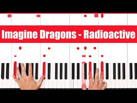 Radioactive Imagine Dragons Piano Tutorial - CHORDS