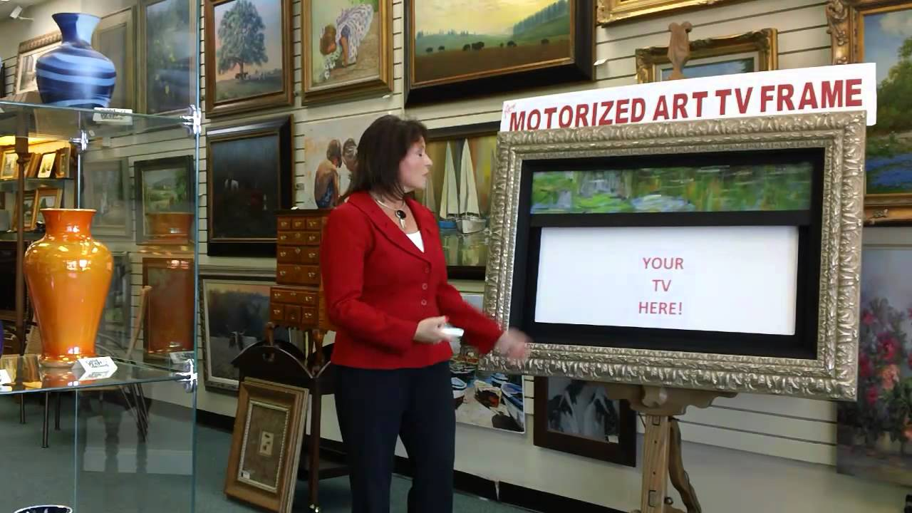 motorized art for your framed tv frame that tv texas