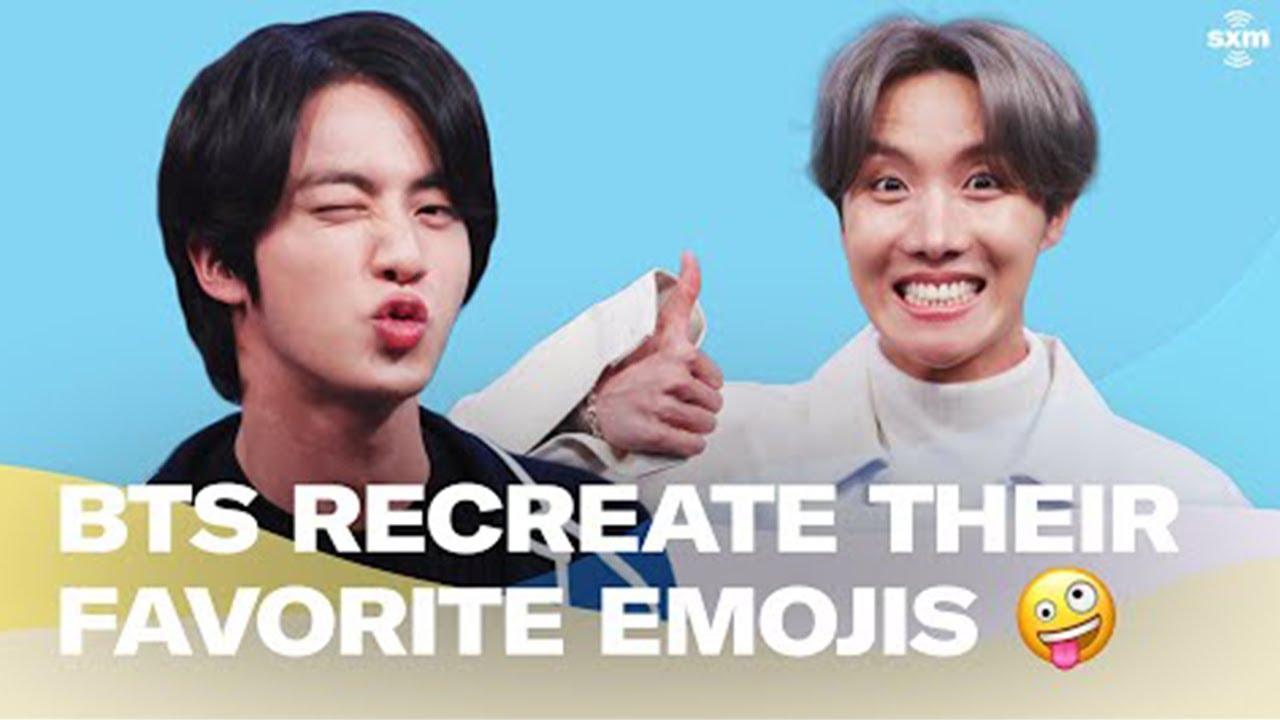 Bts Recreate Their Favorite Emojis Youtube