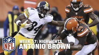 Antonio Brown Takes Down the Browns, Sets Steelers Record! | NFL Week 17 Highlights