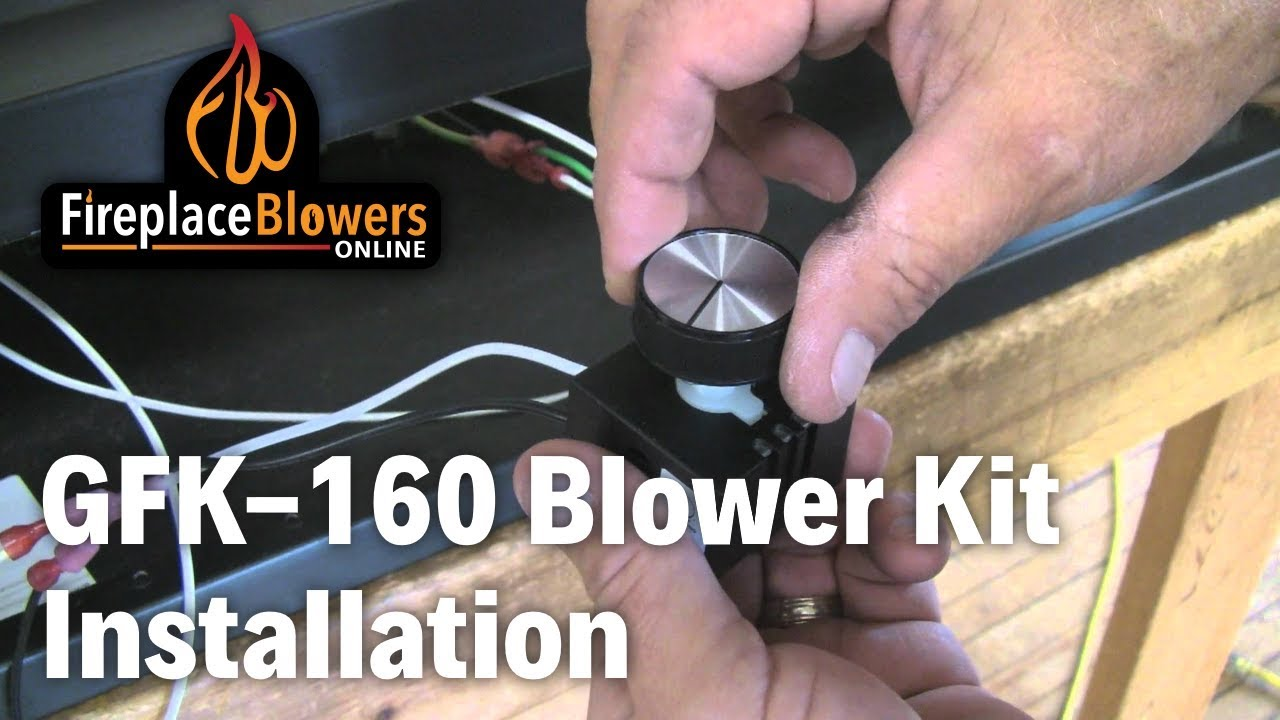 GFK-160 Fireplace Blower Fan Kit Installation - YouTube