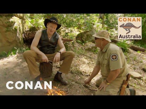 conan learns how to survive in the australian bush conan on tbs
