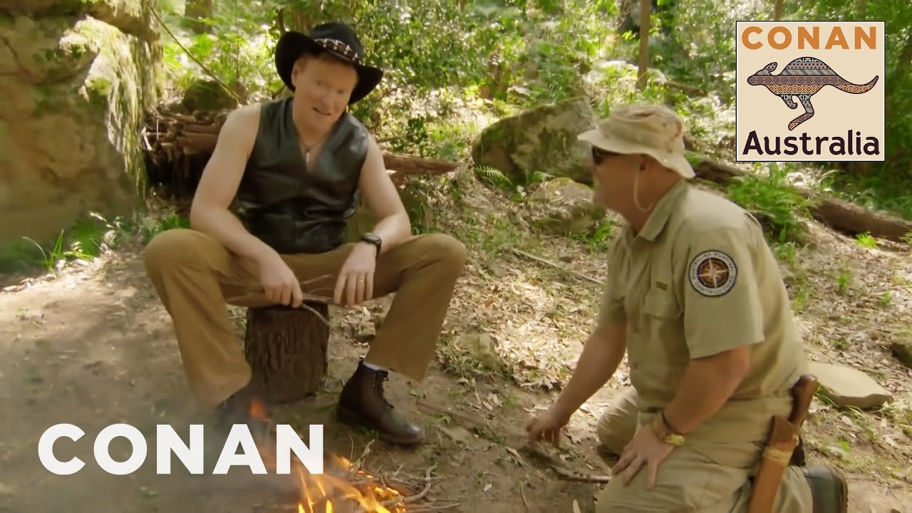 Conan Learns How To Survive In The Australian Bush - CONAN on TBS
