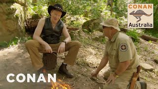 Conan Learns How To Survive In The Australian Bush  CONAN on TBS