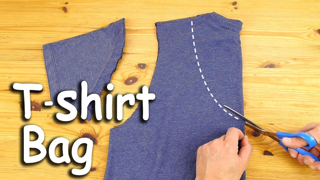 How To Make A T Shirt Bag Youtube