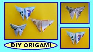 Repeat youtube video DIY ORIGAMI Geldschein - Schmetterling schnell und einfach falten, Geschenk, money easy gift ideas