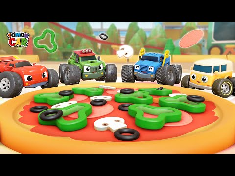 Pizza Making Play With Tomoncar! Learn Color Nursery Rhyme Kids Songs Tomoncar World