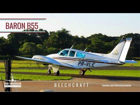 Beechcraft Baron B55 | Engine Start-up, Taxi, Takeoff | Acionamento Decolagem | Baron 55 Takeoff