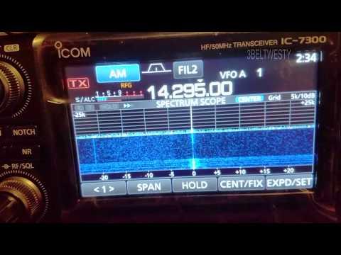 Ham Radio 14.295 Mhz Radio Tajikistan 3rd harmonic
