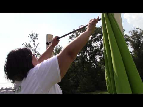 How to Install Outdoor Curtains with a Steel Tension Rod