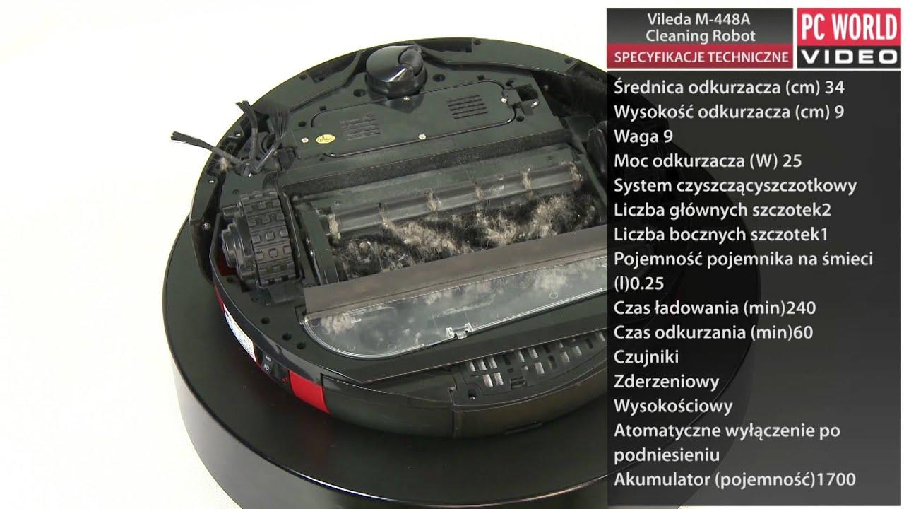vileda m 448a cleaning robot test pc world youtube. Black Bedroom Furniture Sets. Home Design Ideas