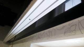 как повесить гардину , карниз  на натяжной потолок самому