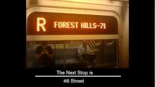 R160 R to Forest Hills Announcements [From Bay Ridge - 95 ST to Forest Hills - 71 av] (2012)