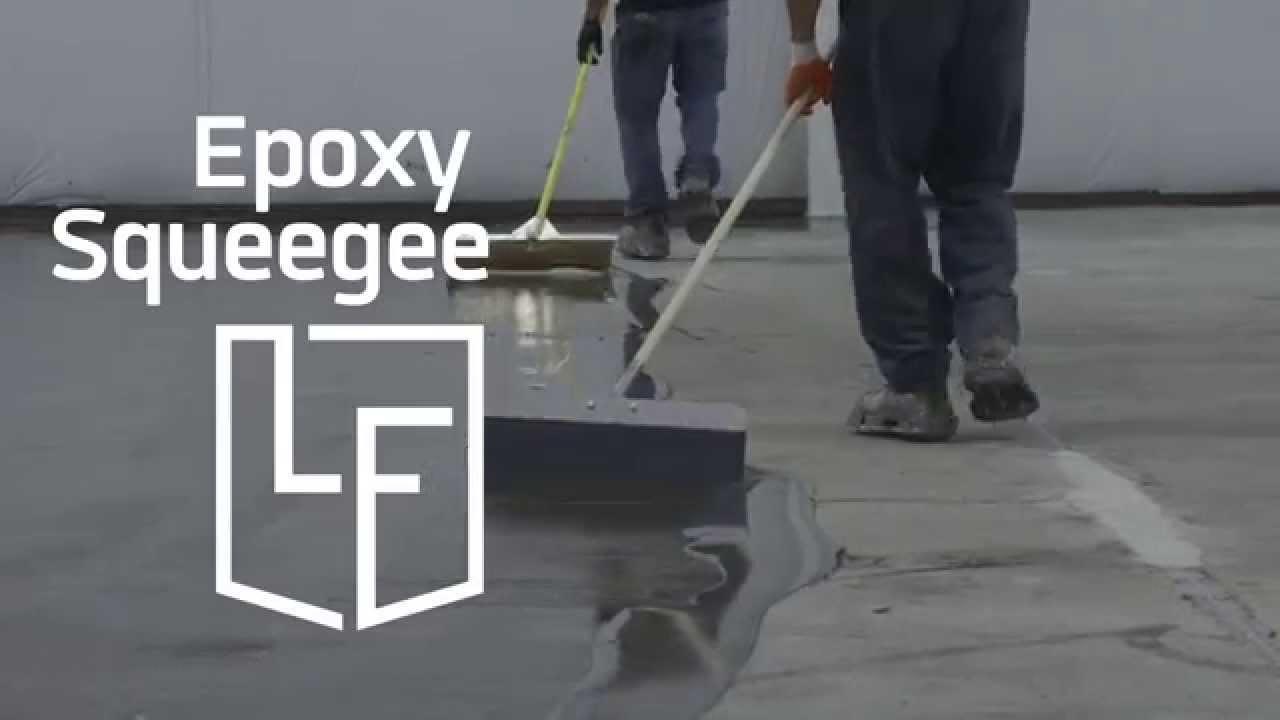 Epoxy Floor squeegee  YouTube